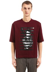 Antonio Marras Printed Cotton Jersey Sweatshirt Bordeaux