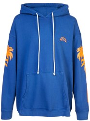 Adaptation Palm Hoodie Blue