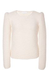 Co Hand Knit Wool Sweater White