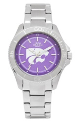 Jack Mason Brand 'Kansas State Wildcats' Bracelet Watch 44Mm Silver Purple