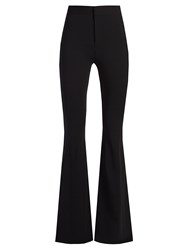 Givenchy High Rise Flared Leg Cady Trousers Black