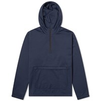 Blue Blue Japan Irredescent Nylon Half Zip Popover Hoody Blue