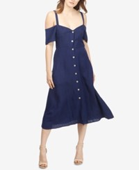 Lucky Brand Cold Shoulder Shirtdress American Navy