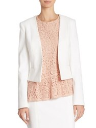 Boss Jivyla Basket Weave Blazer Vanilla Light