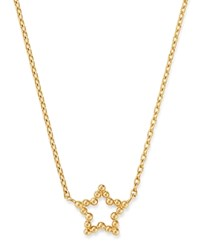 Moon And Meadow 14K Yellow Gold Beaded Star Adjustable Necklace 16 18 100 Exclusive