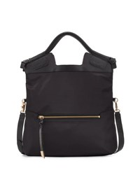Foley Corinna Nikki Fold Over City Tote Bag Black