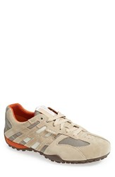 Men's Geox 'Uomo Snake 94' Sneaker Beige Dark Orange