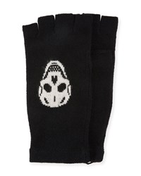 360 Sweater Ravenna Knit Fingerless Gloves W Skulls Black