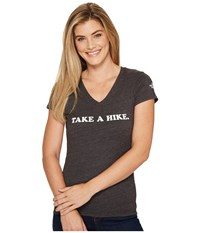 The North Face Short Sleeve Take A Hike V Neck Tri Blend Tee Tnf Dark Grey Heather Women's T Shirt Gray