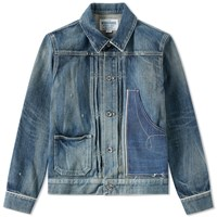 Neighborhood Savage Stockman Pleated Jacket Blue