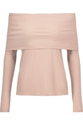 W118 By Walter Baker Lydia Off The Shoulder Ribbed Knit Top Taupe