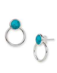 Argentovivo Turquoise And Sterling Silver Geometric Drop Earrings