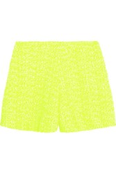 Giambattista Valli Neon Tweed Shorts Bright Yellow