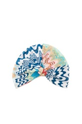 Missoni Mare Turban In Pink Blue Abstract