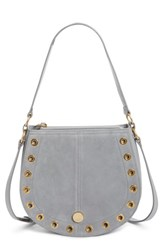 See By Chloe Kriss Leather And Suede Grommet Shoulder Bag Blue Skylight