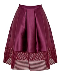 Ted Baker Jurisa Mesh Panel Full Skirt Purple