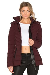 Mackage Patti Coat Burgundy
