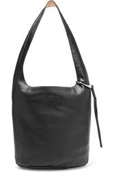 Elizabeth And James Finley Courier Textured Leather Shoulder Bag Black