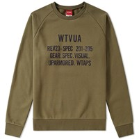Wtaps Wtvua Crew Sweat Green