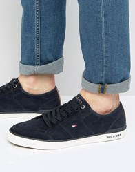 Tommy Hilfiger Midnight Suede Harrington Trainers Navy