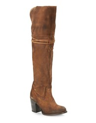 Freebird Brock Suede Lace Up Boots Tan