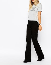 Whistles High Rise Flared Jeans Black