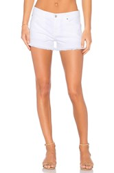 7 For All Mankind Cut Off Short Clean White