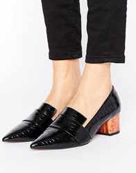 Asos Silence Heeled Loafers Black