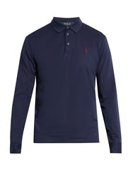 Polo Ralph Lauren Long Sleeved Cotton Pique Shirt Navy