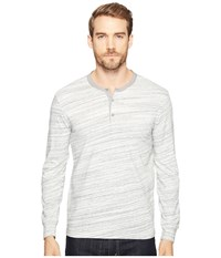 Lucky Brand Knit Henley Heather Grey Men's Clothing Gray