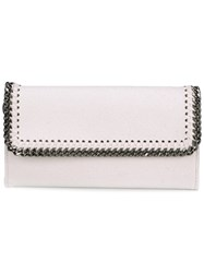 Stella Mccartney 'Falabella' Flap Wallet White