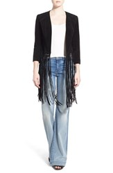 Women's Soia And Kyo Fringe Suede Jacket