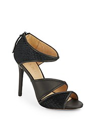 L.A.M.B. Waren Calf Hair And Leather Sandals Black