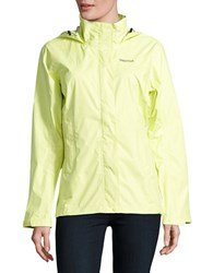 Marmot Outdoor Trail Shell Long Sleeve Hooded Jacket Sunny Lime