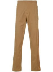 Karl Lagerfeld Fitted Chino Trousers Brown