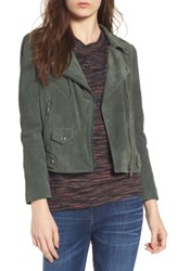 Rebecca Minkoff Women's Wes Suede Moto Jacket Dark Green