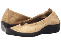 Arcopedico L14 Gold Sparkle Women's Flat Shoes
