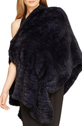 Women's Halston Heritage Genuine Rabbit Fur Poncho