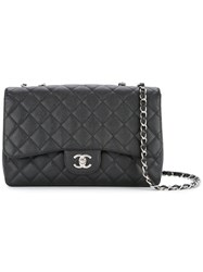 Chanel Vintage Quilted Double Chain Bag Black