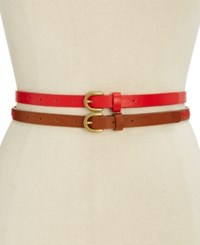Inc International Concepts Embroidered 2 For 1 Belt Only At Macy's Coral