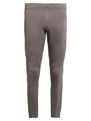 Aeance Compression Panel Performance Leggings Dark Grey