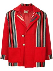 Fake Alpha Vintage Chimayo Blanket Style Jacket Red