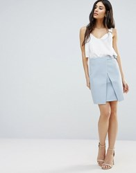Girls On Film Crossover A Line Skirt Blue