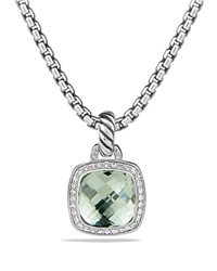 David Yurman Pendant With Prasiolite And Diamonds