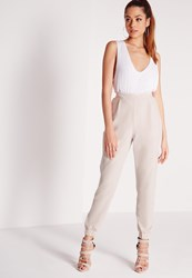 Missguided Formal Crepe Joggers Grey Grey