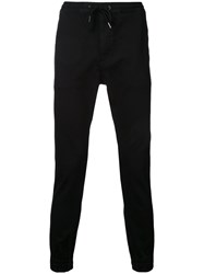 Monkey Time Drawstring Tapered Trousers Black