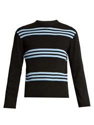 Acne Studios Ker Stripe Crew Neck Sweater Black Multi