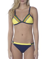 Sperry Caribbean Sunset Banded Bikini Top Yellow