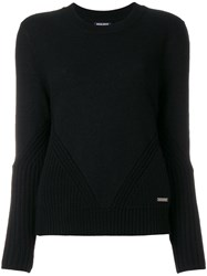 Woolrich Ribbed Trim Sweater Wool S Black