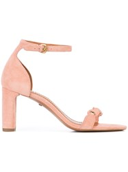Coach Signature Link Sandals Pink And Purple